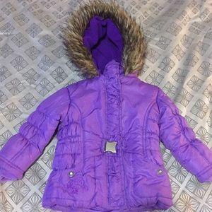 Girls 2T purple hooded winter jacket